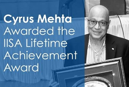 Cyrus Mehta wins IISA Lifetime Achievement Award